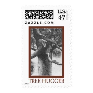 Tree Hugger Postage