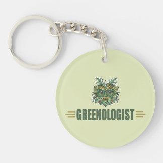 Tree Hugger, Recycling Single-Sided Round Acrylic Keychain