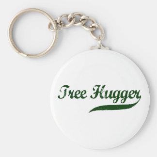 Tree Hugger Script Key Chain