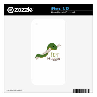 Tree Hugger iPhone 4 Decal