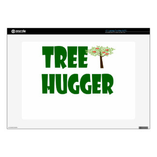 "tree hugger 15"" laptop decal"