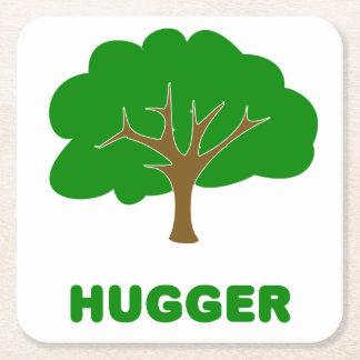 Tree Hugger Square Paper Coaster