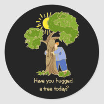Tree Hugger stickers