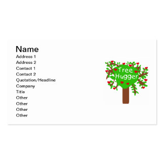 Tree Hugger T-shirts and Gifts Business Cards