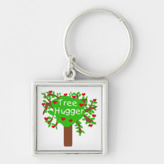Tree Hugger T-shirts and Gifts Keychain
