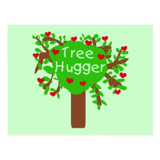 Tree Hugger T-shirts and Gifts Postcard