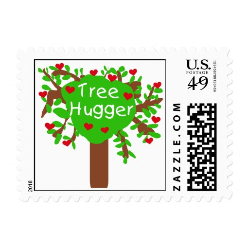 Tree Hugger T-shirts and Gifts Stamps
