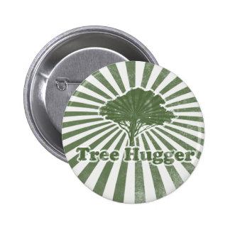 Tree Hugger Think Green Pinback Button