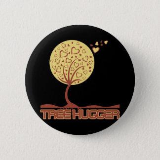 Tree Hugger Tree Hearts Pinback Button