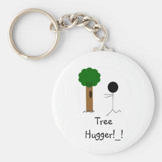 tree hugger, Tree Hugger!_! Basic Round Button Keychain