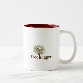 Tree Hugger w tree illustration Coffee Mug