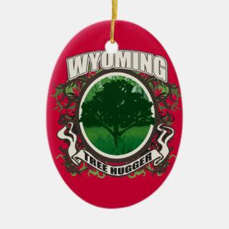 Tree Hugger Wyoming Ceramic Ornament