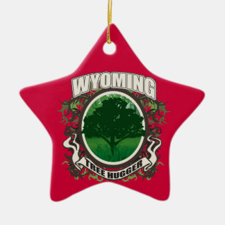 Tree Hugger Wyoming Christmas Ornament