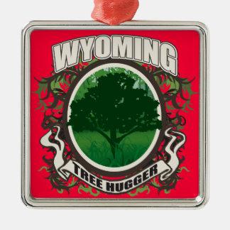 Tree Hugger Wyoming Metal Ornament