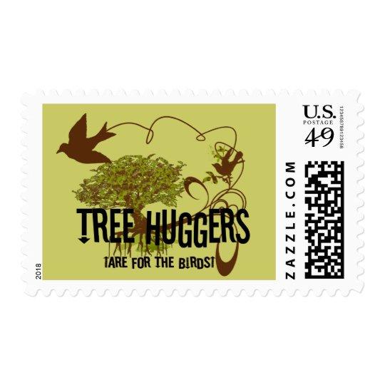 Tree Huggers 4 the Birds Change colors Postage