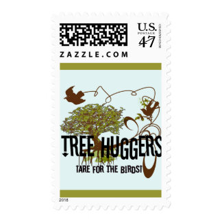 Tree Huggers Are For the Birds Postage