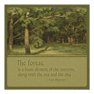 Tree Hugger's CC0352 Shishkin Poster