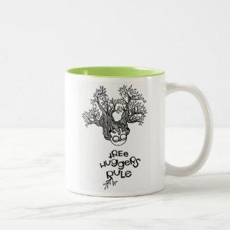 Tree Huggers Rule Two-Tone Coffee Mug