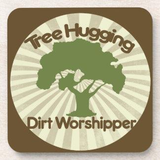 Tree Hugging Dirt Worshiper Coasters