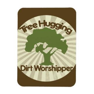 Tree Hugging Dirt Worshiper Rectangular Photo Magnet