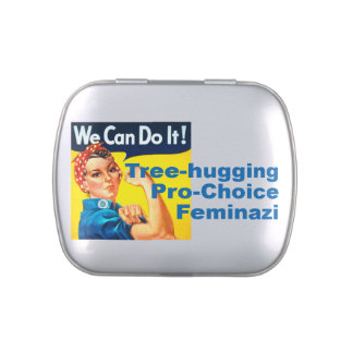 Tree hugging Pro-Choice Feminazi Jelly Belly Candy Tins