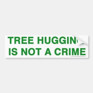 Tree Hugging sticker Car Bumper Sticker