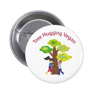 Tree Hugging Vegan swag 2 Inch Round Button