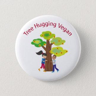 Tree Hugging Vegan swag Button