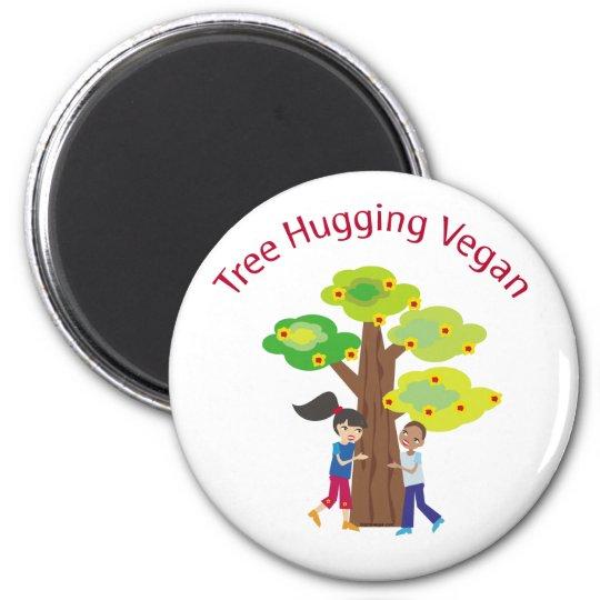 Tree Hugging Vegan swag Magnet