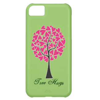Tree Hugs Pink and Green iPhone 5 Case