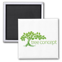 Tree Icon Concept Magnet