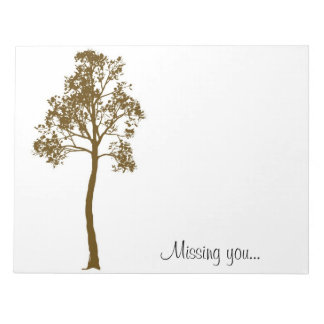 Tree II Missing You Notepad