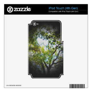 Tree Image Vignette Canvas texture Skin For iPod Touch 4G