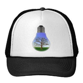 Tree in a Light Bulb Trucker Hat