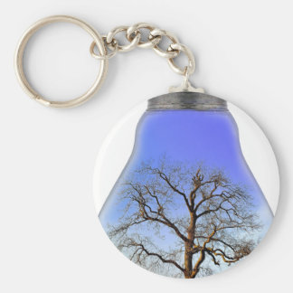 Tree in a Light Bulb Key Chains