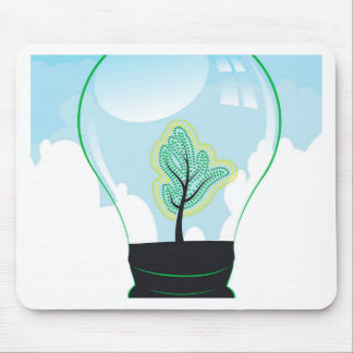 Tree in a Lightbulb 2 Mouse Pad