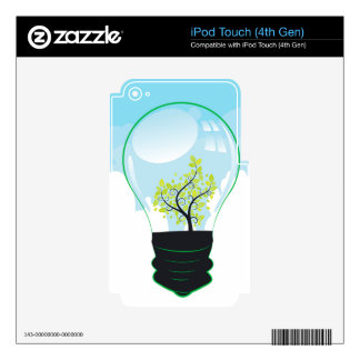 Tree in a Lightbulb Decals For iPod Touch 4G