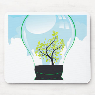 Tree in a Lightbulb Mouse Pad