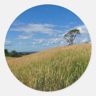 Tree in a Wheat Field Sticker