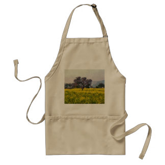 Tree in a yellow vision adult apron