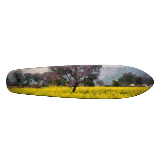 Tree in a yellow vision skateboard