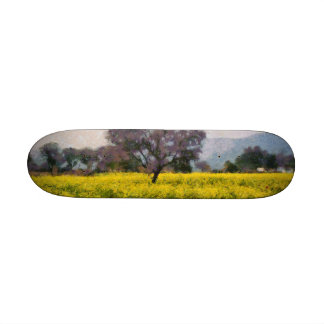 Tree in a yellow vision skateboard deck