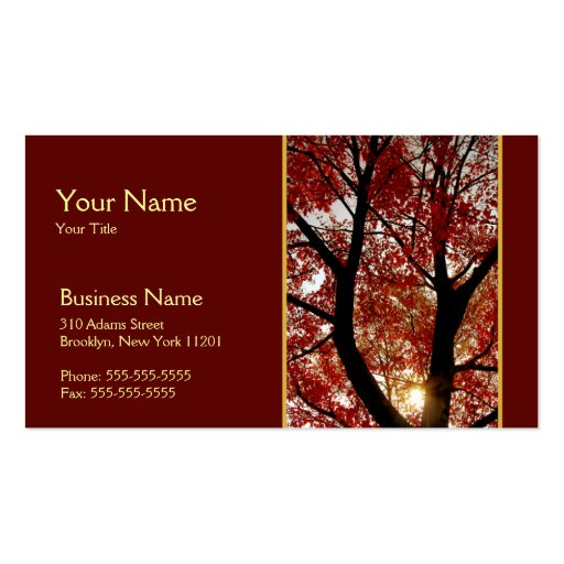 Tree in Autumn Business Card