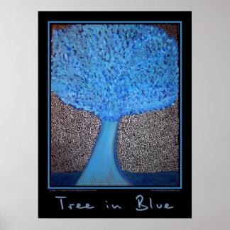 Tree in Blue Huge Poster