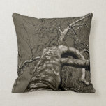 Tree in camouflage - fine art on a pillow