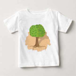 Tree in Hands Baby T-Shirt