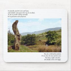 Tree in Peak District Desiderata Mousepad mousepad