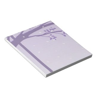 Tree in Silhouette Purple Notepad notepad