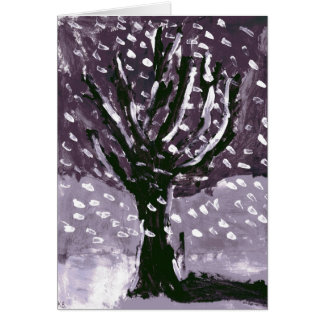 Tree in Snow Card