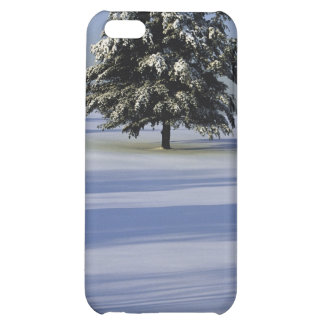 Tree in snow covered landscape cover for iPhone 5C
